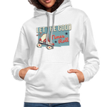 Load image into Gallery viewer, Let the Good Times Roll Contrast Hoodie - white/gray