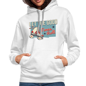 Let the Good Times Roll Contrast Hoodie - white/gray
