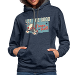 Load image into Gallery viewer, Let the Good Times Roll Contrast Hoodie - indigo heather/asphalt