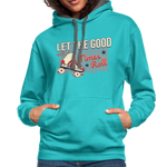 Load image into Gallery viewer, Let the Good Times Roll Contrast Hoodie - scuba blue/asphalt