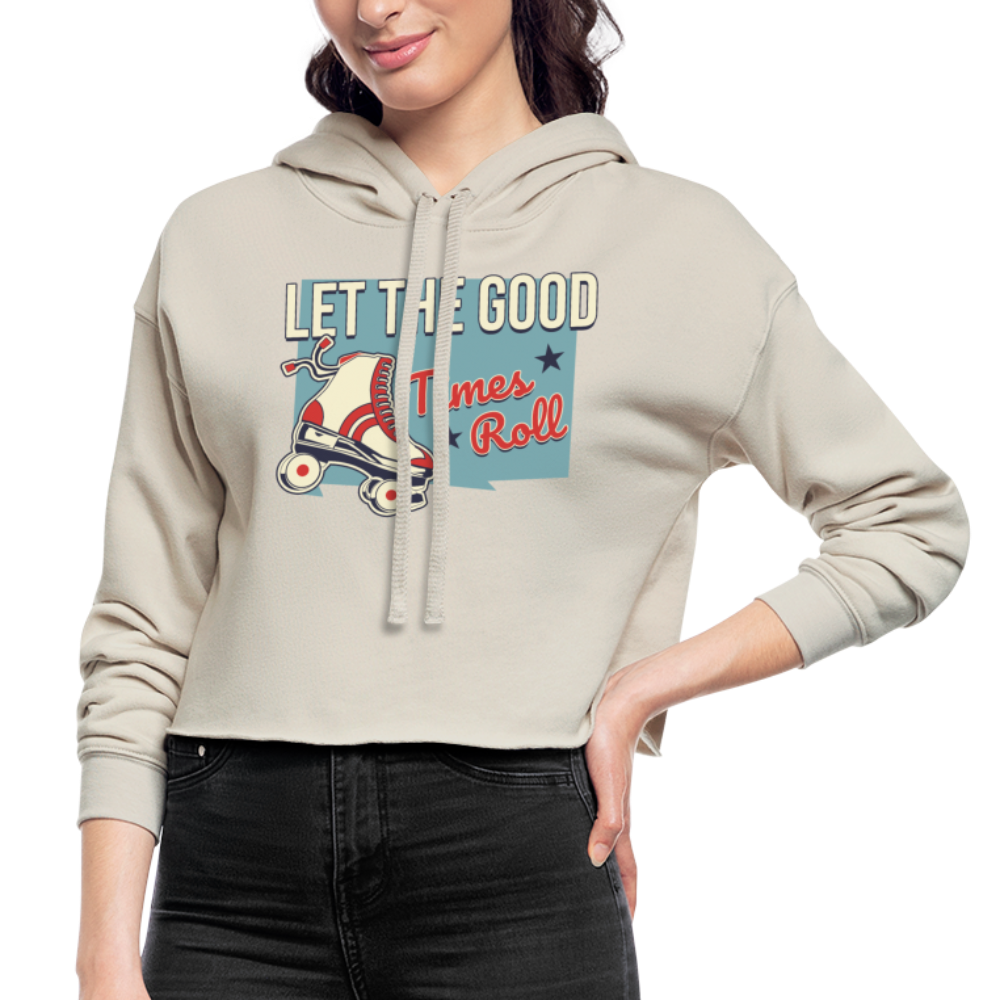 Let the Good Times Roll Women's Cropped Hoodie - dust