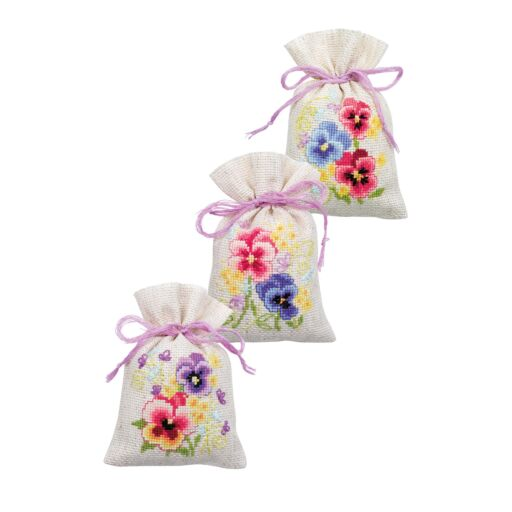 Bergere Counted Cross-Stitch Lavender Bags 8x12cm Pack of 3
