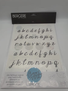 Embroidery Transfers Alphabet Lower Case