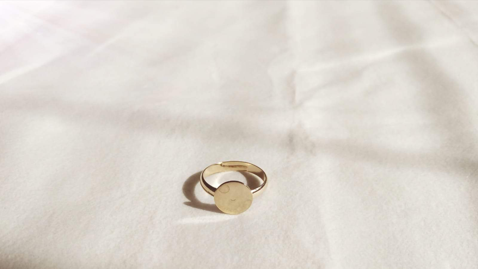 Ring base 20mm - Champagne
