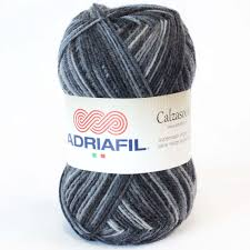 Yarn Adriafil Calzasocks Grey Stripey 50
