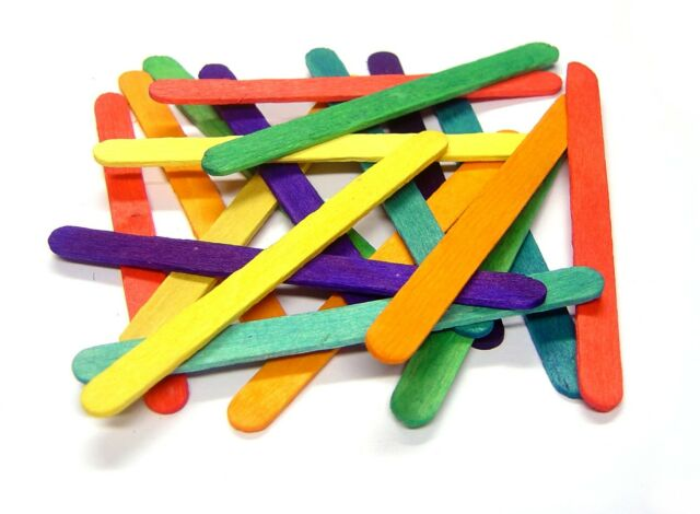 Craft Lolly Sticks Coloured