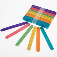 Load image into Gallery viewer, Craft Lolly Sticks Coloured