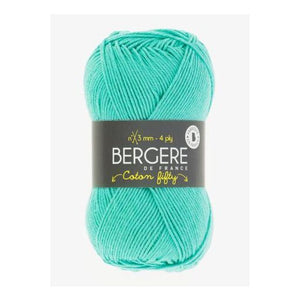 Yarn Bergere Coton Fifty Turquoise