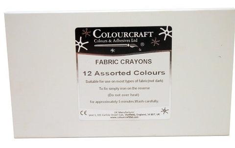 Fabric Crayons Pack of 12 Assorted
