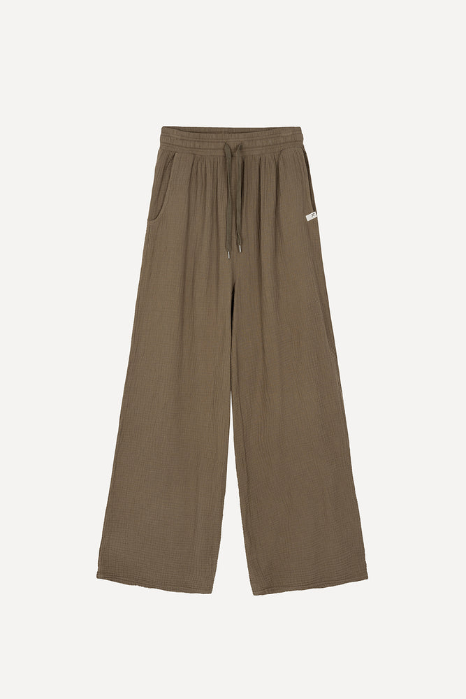 Laden Sie das Bild in den Galerie-Viewer, Muslin Culotte Khaki