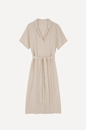 Laden Sie das Bild in den Galerie-Viewer, Muslin Shirt Dress Sand