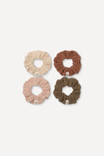Scrunchie Set Rose, Mocha, Sand, Khaki