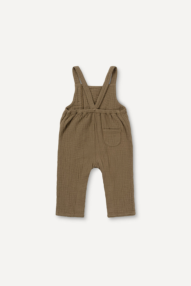 Laden Sie das Bild in den Galerie-Viewer, Muslin Dungaree Khaki