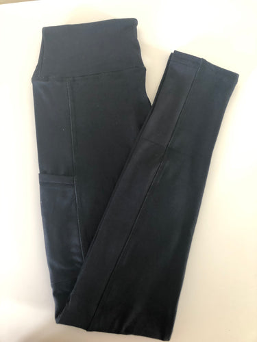 Nyx plain black leggings super soft thick