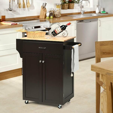 Kitchen Island Cart with Spice Rack