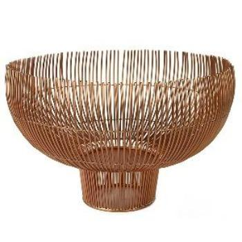 Metal Bowl With Open Wire Design