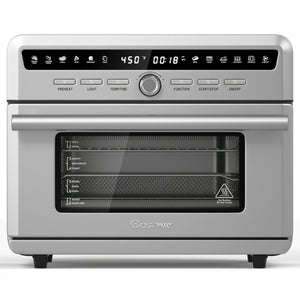 26.4 Qt 1800W 10-in-1 Air Fryer Toaster Oven with Recipe