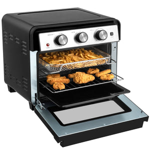 12-in-1 23 QT Digital Toaster Air Fryer Oven Rotisserie with 9 Accessories