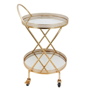 Gold 2 Tier Metal Bar Cart