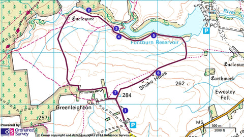 Map route of the walk, image taken from National Trust.org