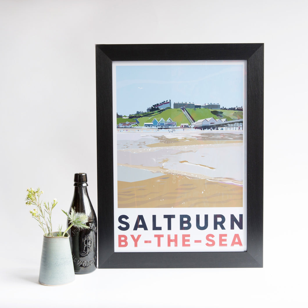 Saltburn by-the-sea unframed A3 print