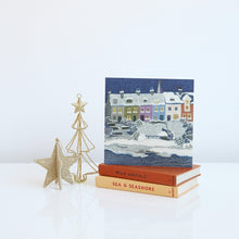 Load image into Gallery viewer, Alnmouth in Snow Christmas card