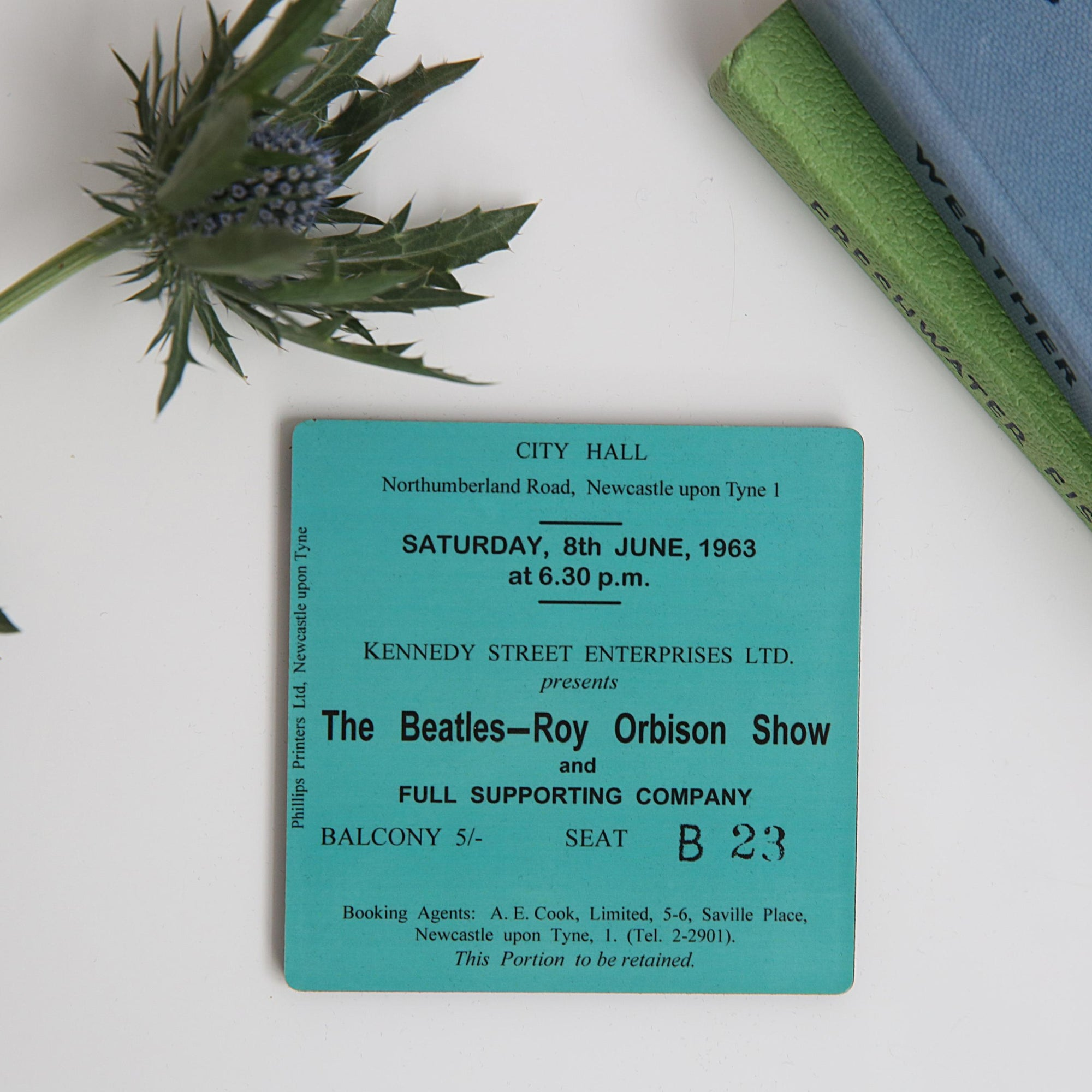 The Beatles - Roy Orbison Show City Hall Coaster