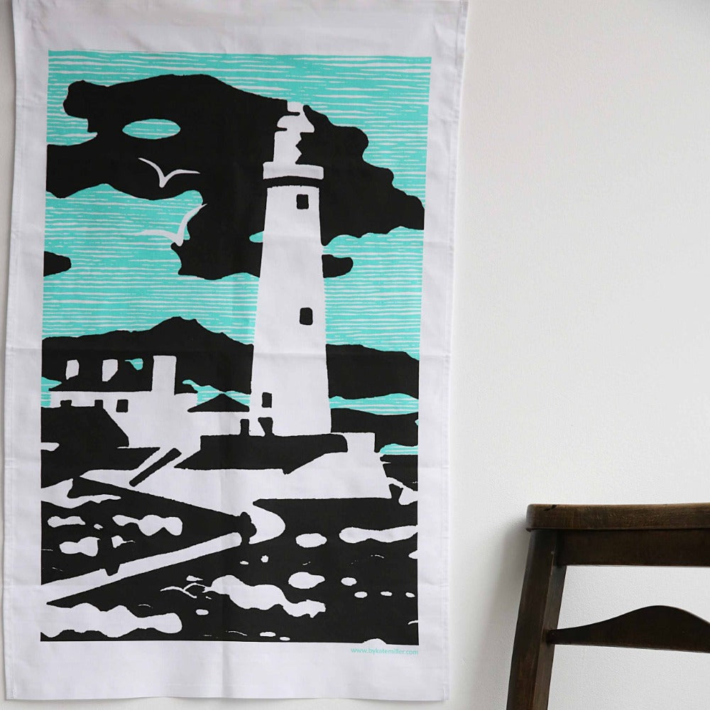 St Mary's Lighthouse Tea Towel