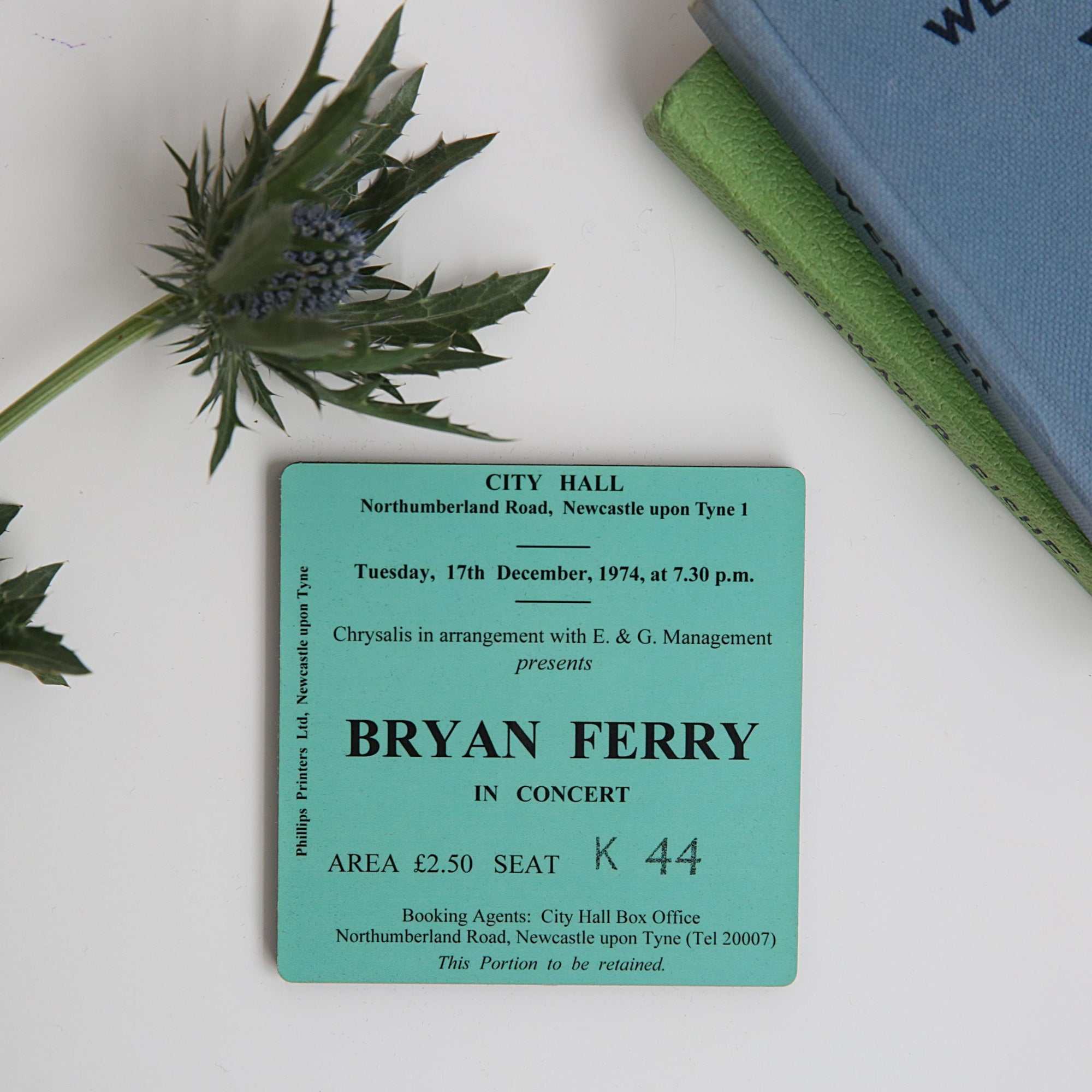 Bryan Ferry City Hall Coaster
