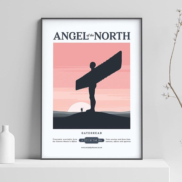 Angel of the North at Sunset A4 unframed print