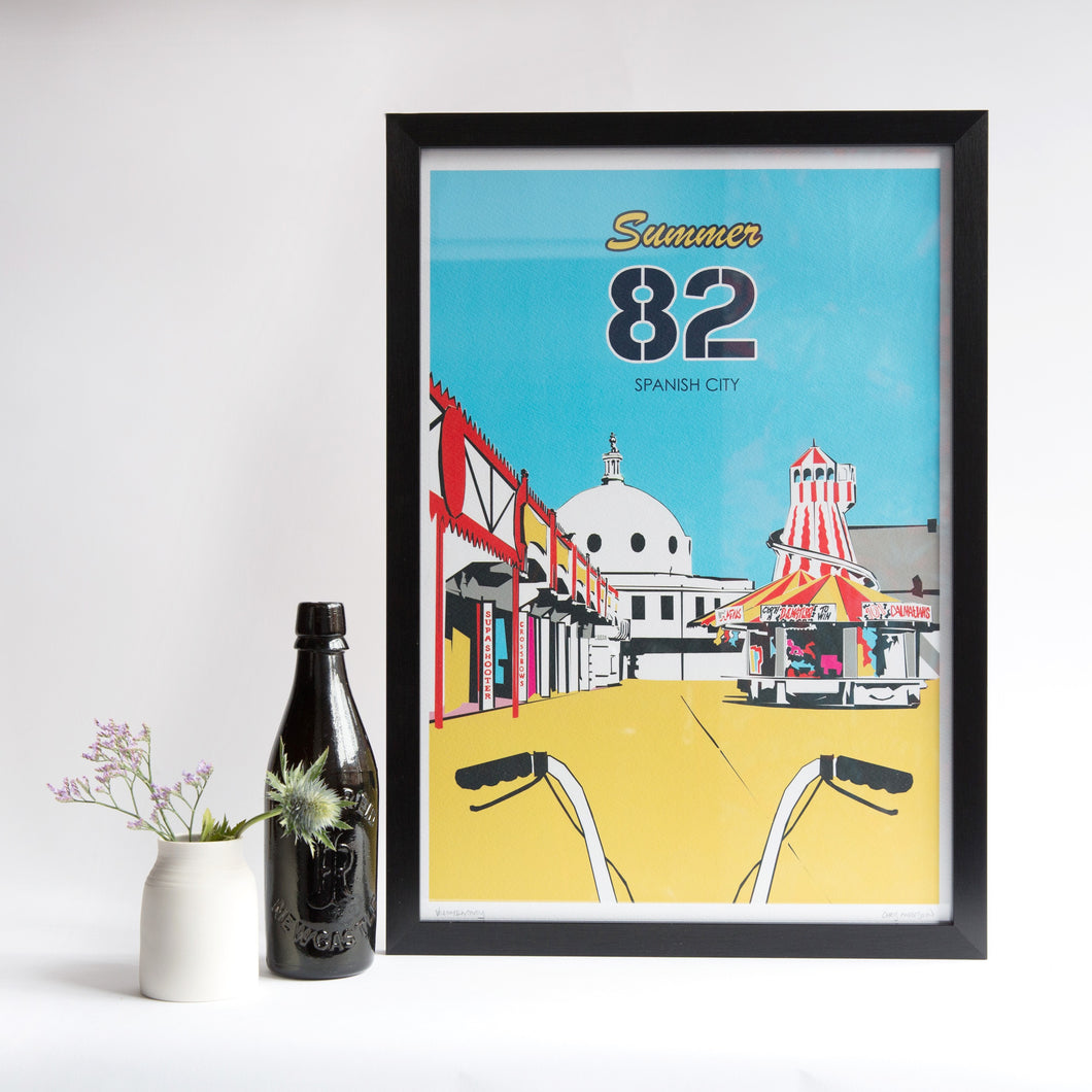Spanish City unframed print