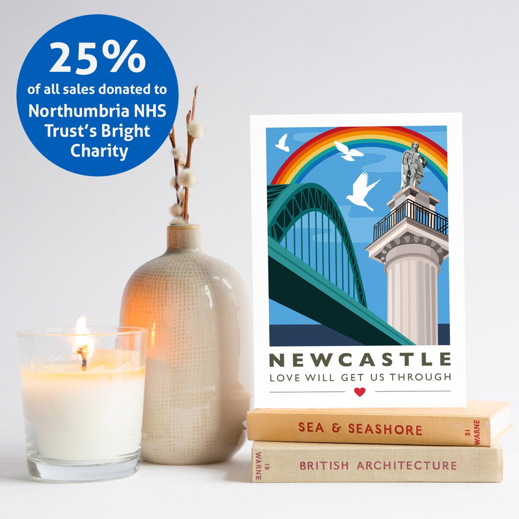 Set of 5 Newcastle Love will get us through cards