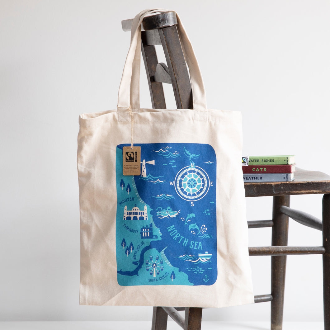 Mouth of Tyne, South Shields to Whitley Bay via Tynemouth Tote Bag