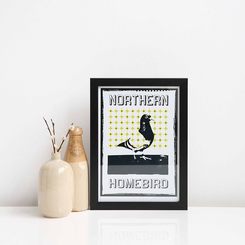 Northern Homebird Pigeon A4 unframed print