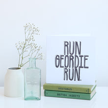 Load image into Gallery viewer, Run Geordie Run Great North Run card