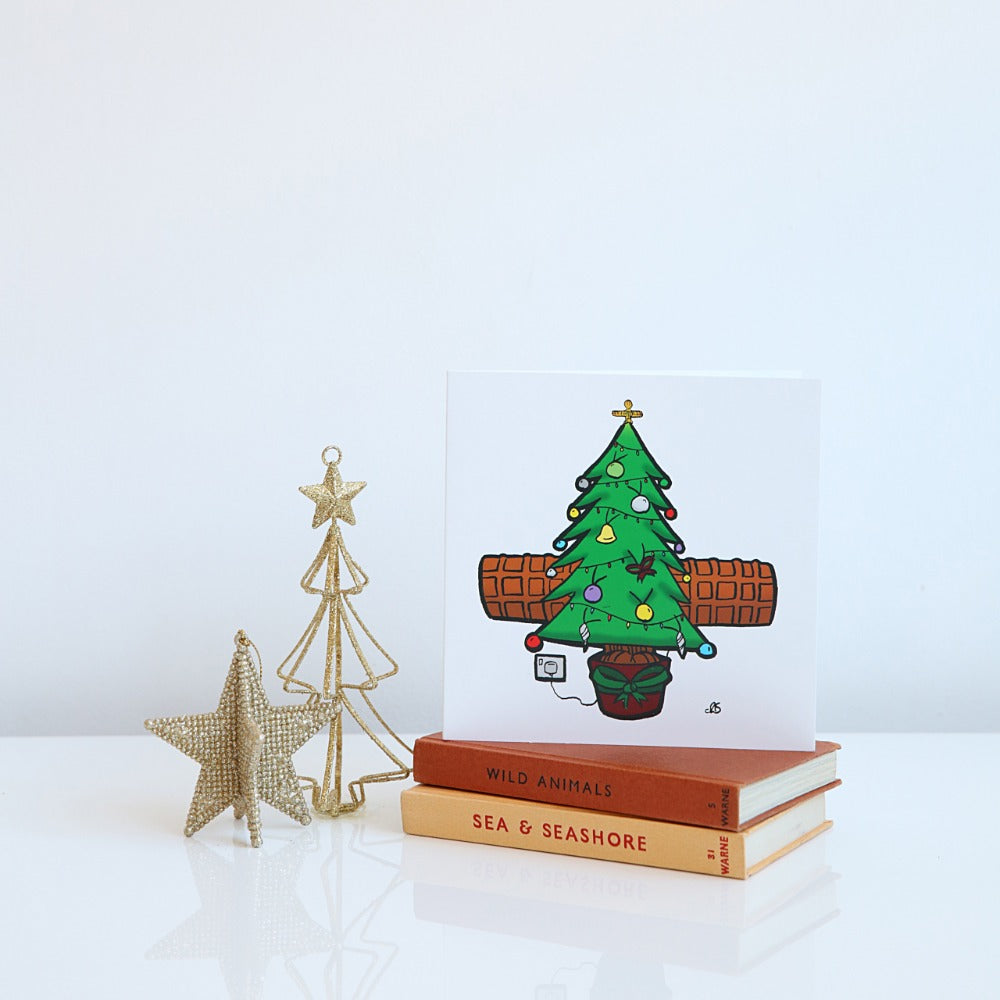 Wor Christmas Tree Angel card