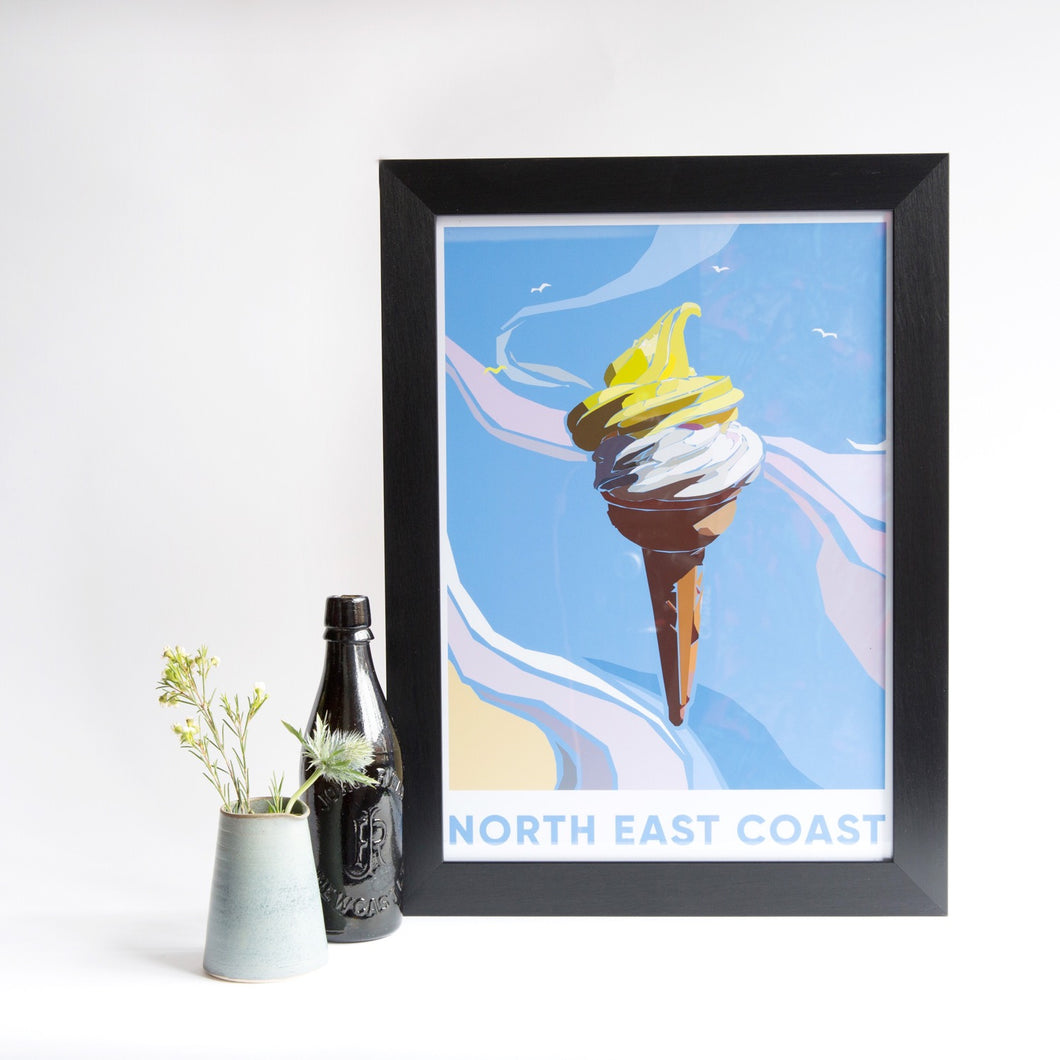 North East Coast A3 unframed print