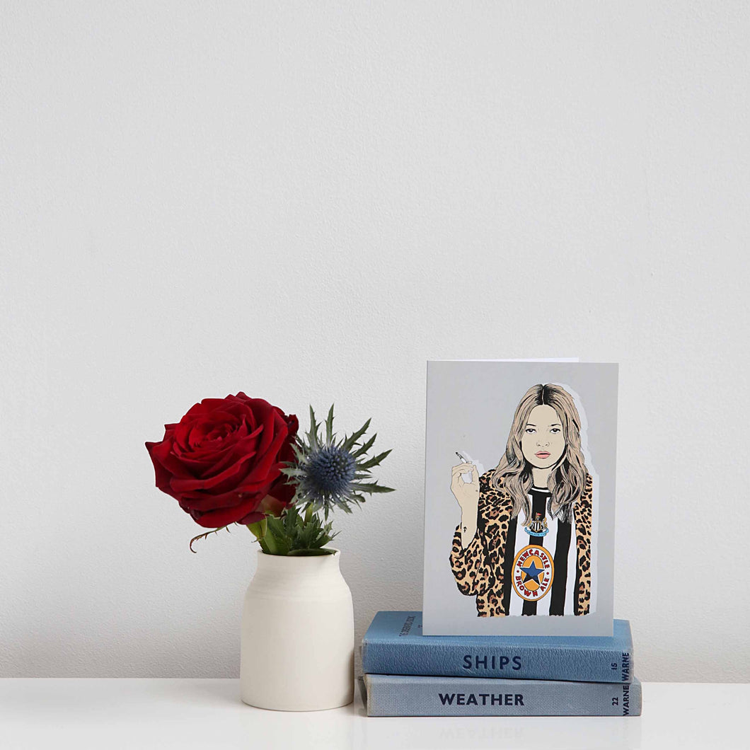Geordie Kate Moss card