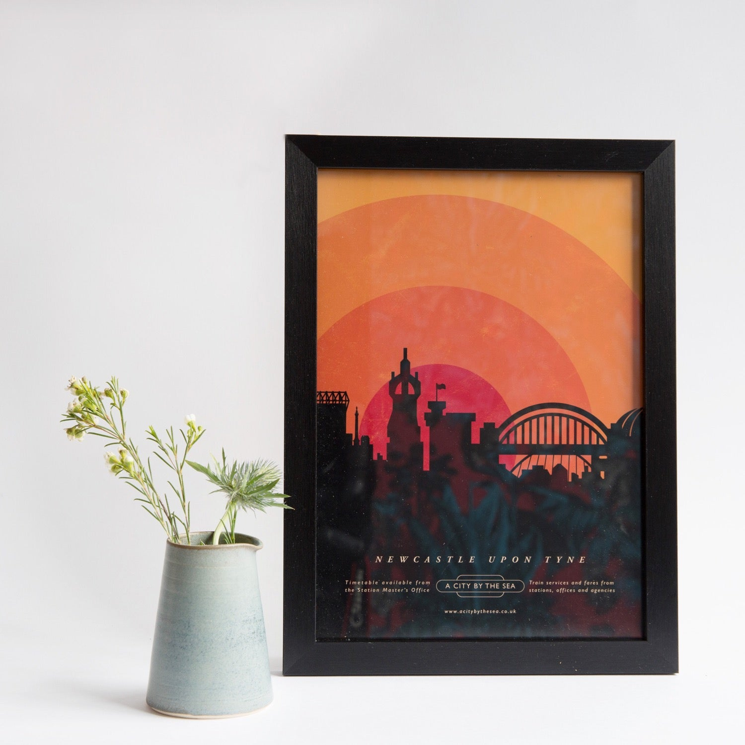 Newcastle upon Tyne Sunset A4 unframed print