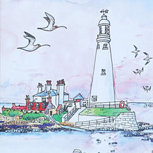 Load image into Gallery viewer, St Mary's Lighthouse and gulls card