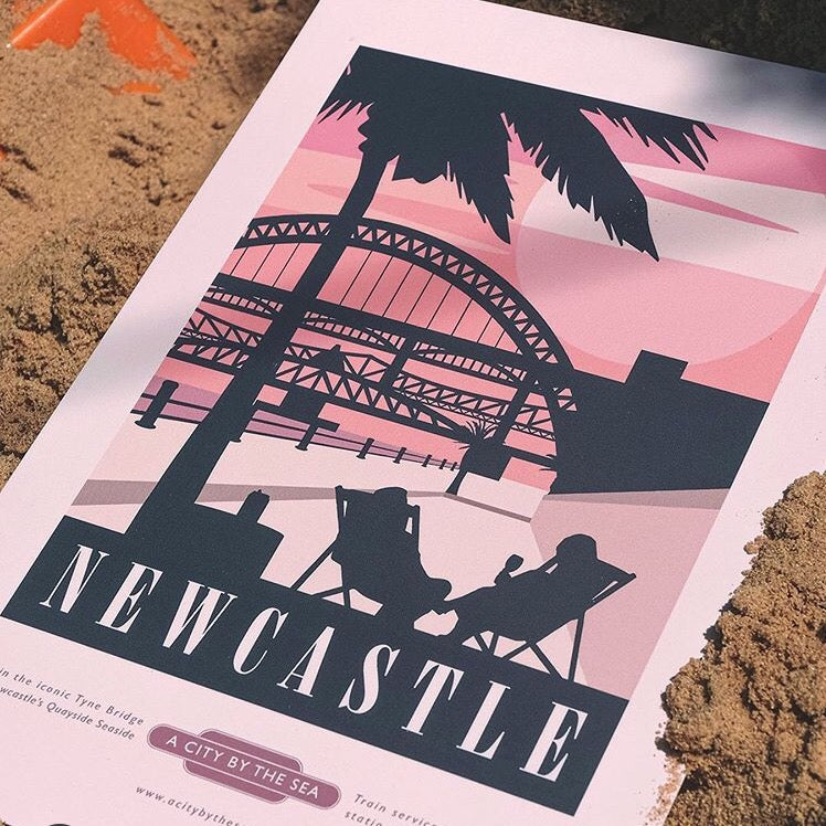 Newcastle Quayside A4 unframed print