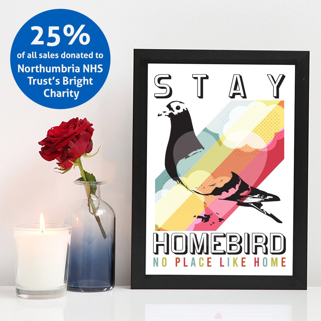 Stay Homebird A4 unframed print