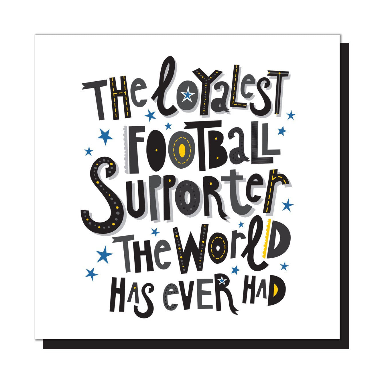 The loyalest football supporter...