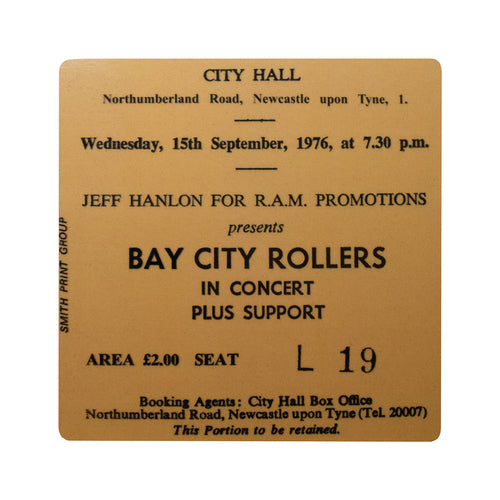 Bay City Rollers City Hall Coaster