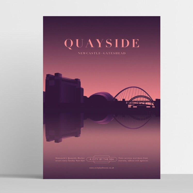 Quayside Travel A4 unframed print