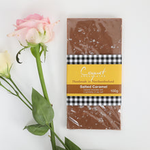 Load image into Gallery viewer, Salted Caramel Milk Chocolate 100g bar