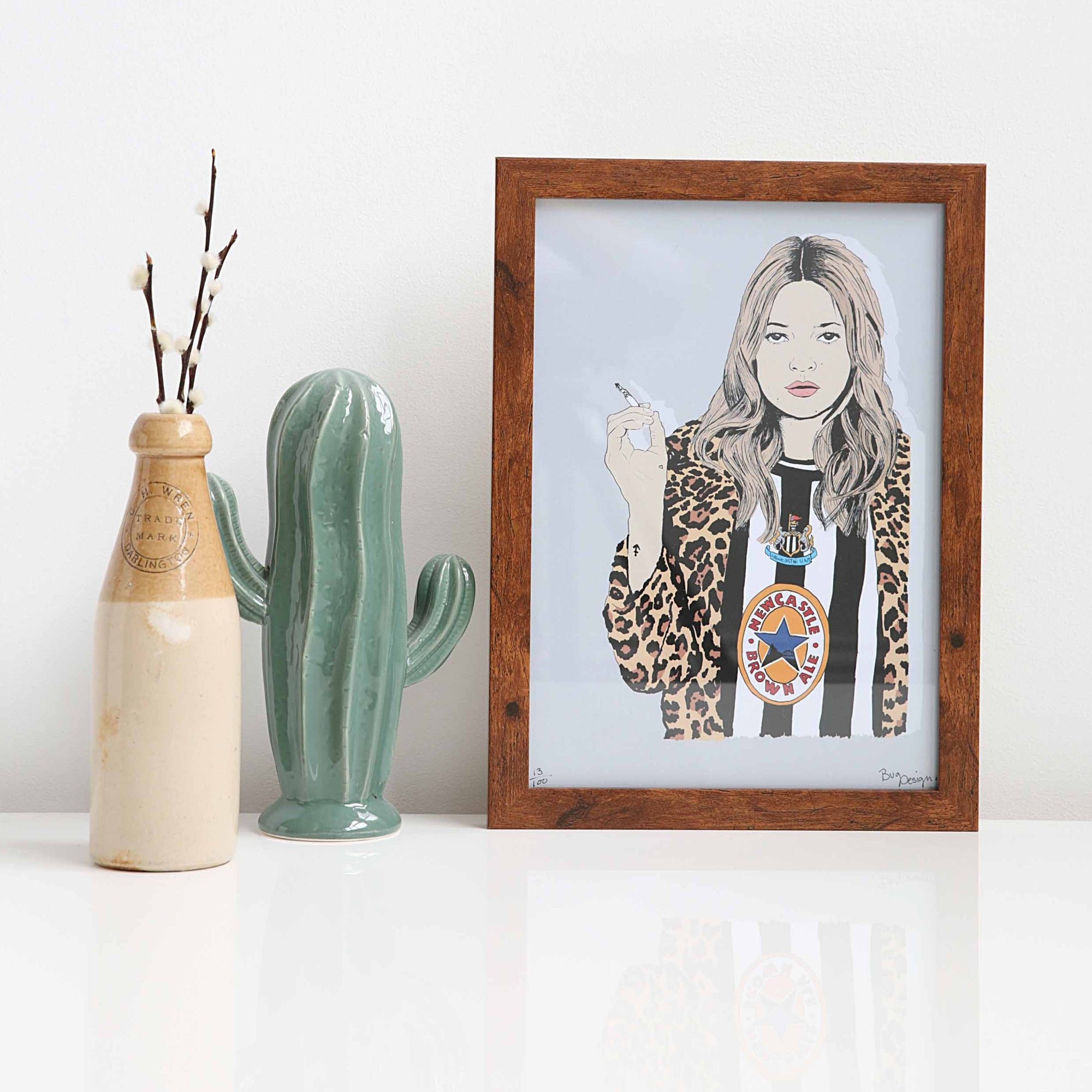 Geordie Kate Moss A4 unframed print