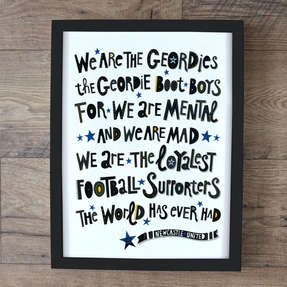 Geordie Boot Boys A4 unframed print