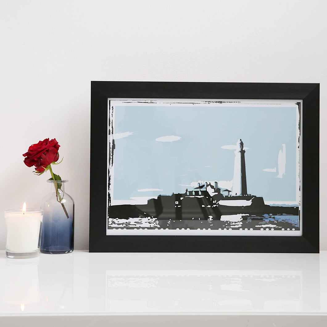 St Mary's Lighthouse A4 unframed print