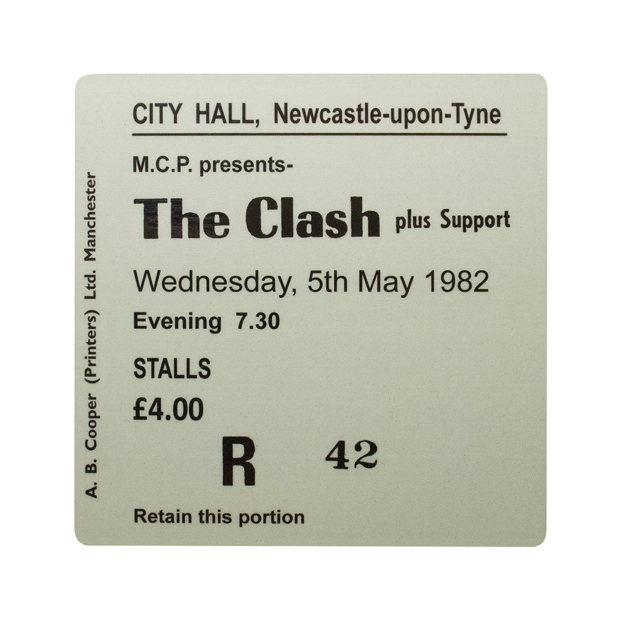 The Clash City Hall Coaster